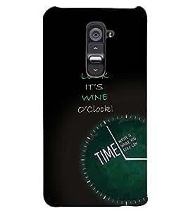 PRINTSWAG CLOCK Designer Back Cover Case for LG G2