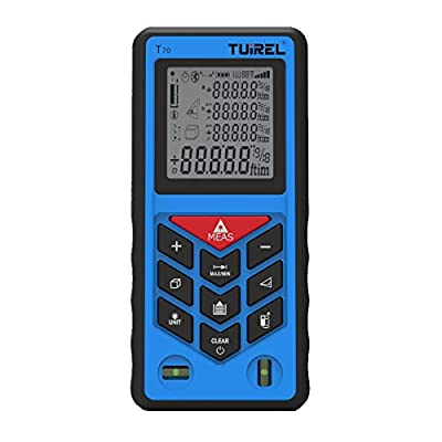 Handheld Laser Distance Measurer with 230-ft (70m) Range and Blacklit Display By Tuirel from Tuirel