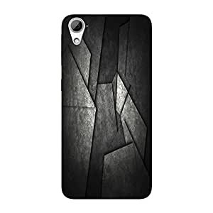 Abhivyakti Abstract Black Abstract Hard Back Case Cover For HTC Desire 826