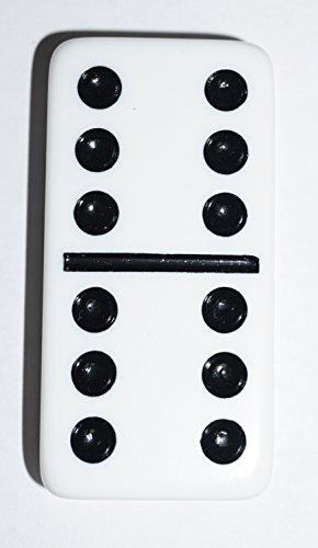 Double 6 Jumbo Dominoes - White
