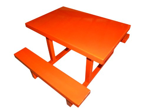 Ofab Custom Theme Tables Modern Kids Picnic Table, Orange