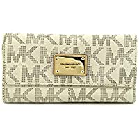 Michael Kors Jet Set Checkbook Wallet (Vanilla)