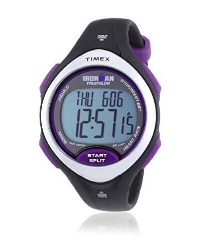Timex Reloj de cuarzo Woman Irm Road Trainr Mid Fabr Hrm Negro 36 mm