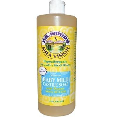Dr. Woods Shea Vision Pure Castile Soap Baby Mild Unscented -- 32 fl oz