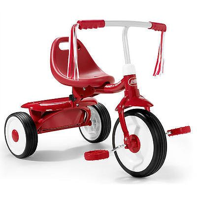 [Radio Flyer Boys Fold 2 Go Tricycle, Folds for Easy Storage and Portability with Adjustable Seat, Covered Storage Bin, and Easy-to-carry Handle] (Kmart Halloween Costumes For Toddlers)