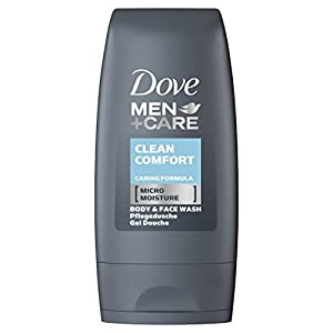 Dove Men+Care Clean Comfort Body & Face Wash - 55 ml (Pack of 8)