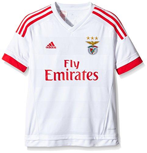 Adidas maglia da calcio da bambino Benfica Lissabon trasferta Replica, Bambini, Trikot Benfica Lissabon Auswärts Replica, Bianco/Rosso, 140