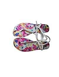 Dolce Vita Womens Flower T-Strap Multicolored Thong Sandals 5M US