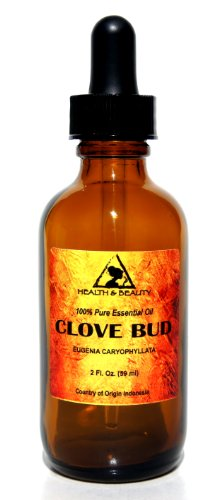 Clove Bud Essential Oil Aromatherapy 100% Pure 2 oz, 59 ml with Glass Dropper
