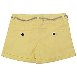 Irene Baby-Girls' 3-9 Years Slim Fit Shorts (Ire-hotshorts-yellow_5-6 Years,Yellow,5-6 Years)