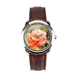 sanYout Mens Watches Leather Strap Effect Wrist Watch Phone Old Leather Watch Mens Graphic