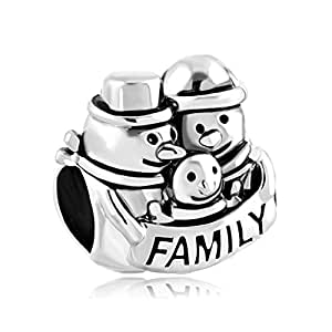 weihnachten charms schneemann mum dad baby familie perlen. Black Bedroom Furniture Sets. Home Design Ideas
