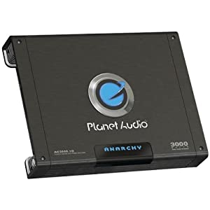 Planet Audio AC3000.1D 3000w Mono Block Amplifier with Subwoofer Control Knob 1 Ohms... by Planet Audio