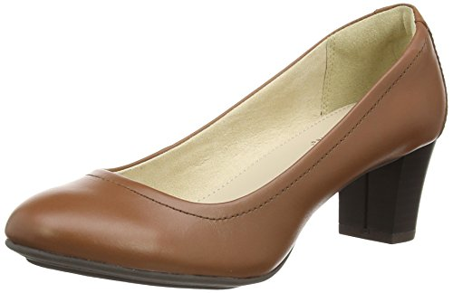 Hush Puppies Aven Imagery IIV, Scarpe col tacco donna Marrone Brown (Tan Leather) 36 2/3