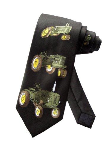 Parquet Männer Farm Traktor Rasenmäher Krawatte - schwarz - Einheitsgröße