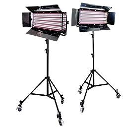 Limostudio Photography Photo Video Studio 2200W Digital Light Fluorescent 4-Bank Barndoor Light Panel Kit with 6pcs Caster Wheels, AGG1214