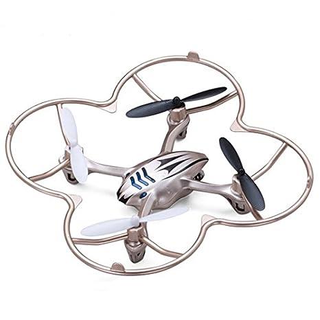Pixnor Lishitoys L6038 2,4 GHz 4 voies gyroscope 6 axes 360 degrés éversion Mini RC Quadcopter Drone UFO avec LED lumièrescapot de protection hélice couvrir (d'or)
