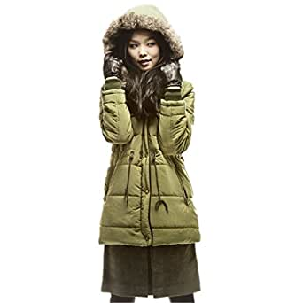 Summer6688 Winter Coat Womens Fur Collar Fashion Warm