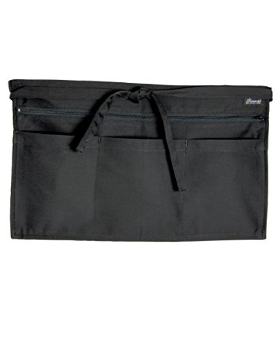 dennys-hospitality-uniform-full-zip-multi-pocket-apron-workwear-tabards-black