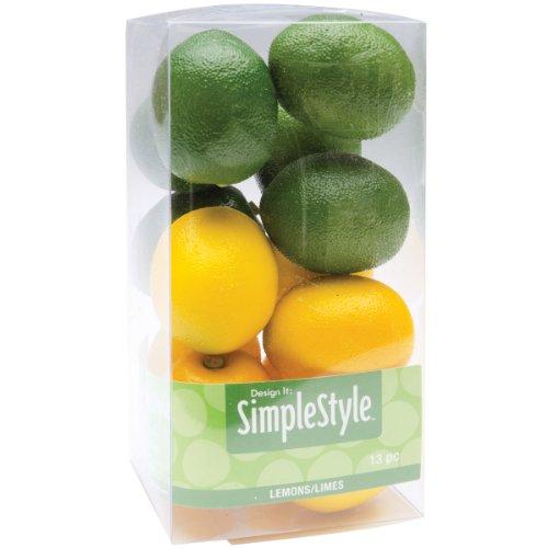 FloraCraft SimpleStyle 13-Piece Lemon/Lime Mini Decorative Fruit (Fruit Lemon compare prices)
