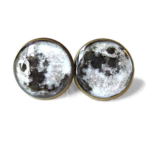 Galaxy Full Moon Gypsy Stud Earrings