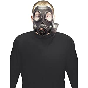 Halloween Zubehör Maske Gasmaske schwarz gruselig zum Horror Kostüm