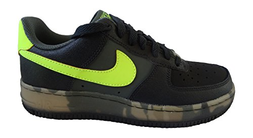 Nike Air Force 1 (gs) Formatori 596728 scarpe da tennis (UK 4,5 Us 5Y Eu 37,5, Pino Nero Volt scuro