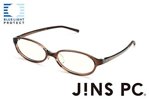 【JINS PCパッケージタイプ(クリアレンズ)】度なしオーバル (BROWN)