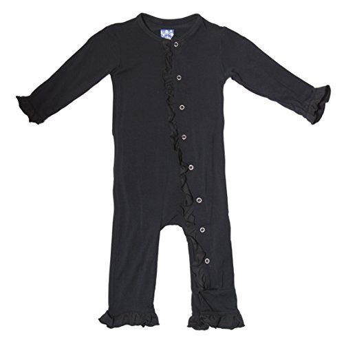 KicKee Pants Toddler-Solid Ruffle Coverall- Midnight, 2T Color: Midnight Size: 2T Model: PRD-KPRC574 (Newborn, Child, Infant) (Kprc compare prices)