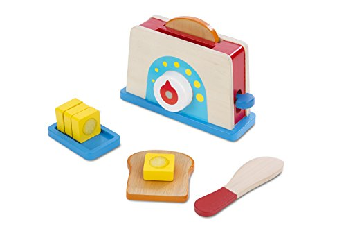 melissa and doug bread butter toast set toys wood play food kids child kitchen ebay. Black Bedroom Furniture Sets. Home Design Ideas