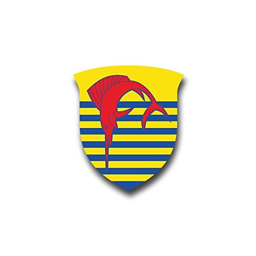 Aufkleber / Sticker - Zerstörer 5 Z5 Deutschland Militär Brd Bundesmarine Schiff Kennung Klasse 119 D179 Wappen Emblem passend für VW Golf Polo GTI BMW 3er Mercedes Audi Opel Ford (7x6cm)#A1446