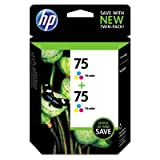 HP 75 Twin-Pack of Color Ink Cartridges HP CZ070FN Ink