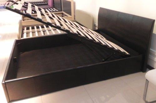 Ottoman struttura letto 140x190 nero spazio extra for Amazon oggetti per la casa