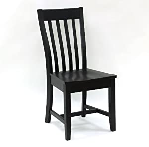 Carolina Cottage Prairie Schoolhouse Chair, Antique Black
