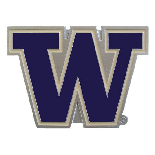 NCAA Washington Huskies Sports Team Logo Hitch Cover Class III Wire Plugs (Metal Trailer Hitch Plug compare prices)