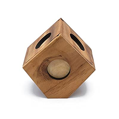 BRAIN GAMES Cube Box Wooden Puzzle