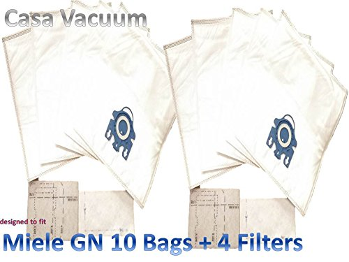 10 Miele GN High Efficiency Synthetic Vacuum Bags by DVC (Miele Gn S400i compare prices)