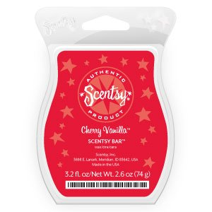 Cherry Vanilla Scentsy Bar Wickless Candle Tart Warmer Wax 3.2 Fl Oz, 8 Squares
