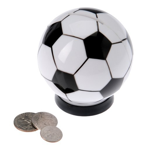 "One 3"" Plastic Soccer Ball Savings Bank"