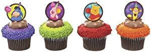 Winnie the Pooh Cupcake Topper Picks - Set of 12