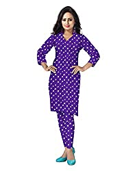 Banjara Women'S Cotton Bandhani Unstitched Dress Material (Rf19 _Purple_Free Size)
