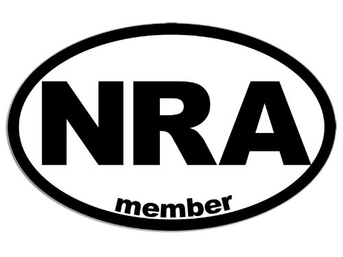 Oval NRA Member Sticker gun owner decal - Kathryn D. Fletcheriop
