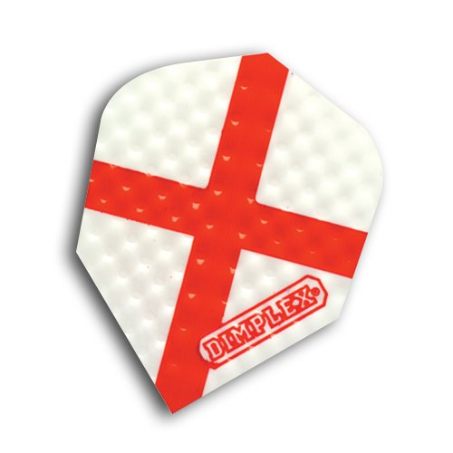 F6030 - St George Cross Dimplex Dart Flights STD 4 sets pro pack (12 flights insgesamt).