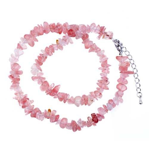 Pugster Stylish Semi Precious Chip Stone Necklace Pendant
