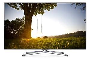Samsung UE46F6500 116 cm (46 Zoll) 3D-LED-Backlight-Fernseher (Full HD, 400Hz CMR, DVB-T/C/S2, CI+, WLAN, Smart TV, HbbTV, Sprachsteuerung) schwarz/silber