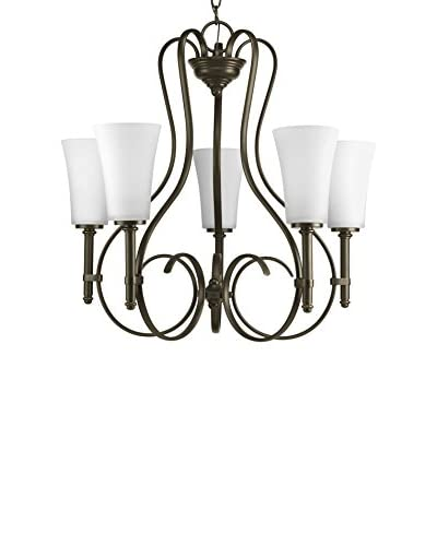 Progress Lighting Flirt Chandelier, Antique Bronze
