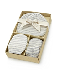 3 Piece Pure Cashmere Hat, Mittens & Scarf Gift Set in Gift Box