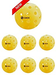 ONIX Pure 2 outdoor Pickleball yellow ball 6 pack (SIX BALLS)