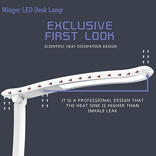 Minger 4 5w Dimmable Led Desk Lamp Portable Desk Table