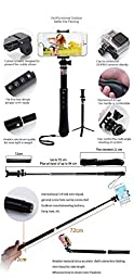 BESTEAM 13-in-1 Kits Aluminium Alloy Universal Durable Portable Extendable Mini Handheld Selfie Stick Monopod Pole With Enhancing LED Flash Light (BT-13in1)